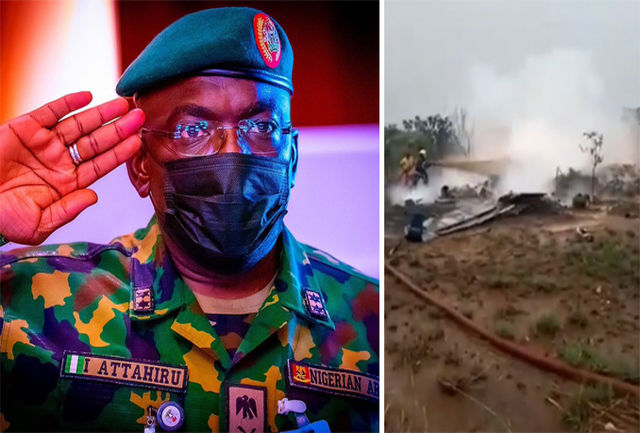 جان باختن فرمانده ارتش نیجریه در سانحه هوایی