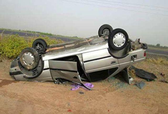 واژگونی خودرو در بویین زهرا یک کشته برجای گذاشت