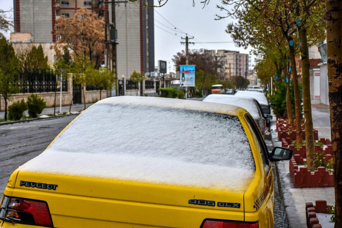 بارش دوباره برف و باران در یزد
