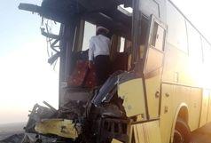 برخورد اتوبوس با کامیون یک کشته و 6 مجروح بر جای گذاشت