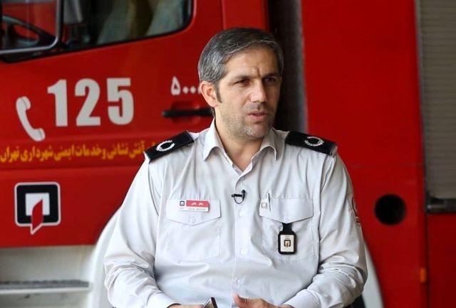 حریق انبار علوفه یک دامداری عامل دود غلیظ جنوب تهران