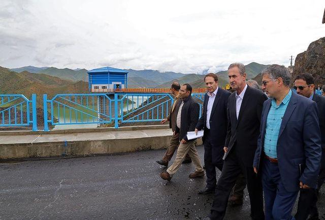 استاندار آذربایجان شرقی از عملیات اجرایی سد خاکی حاجیلر چای بازدید کرد