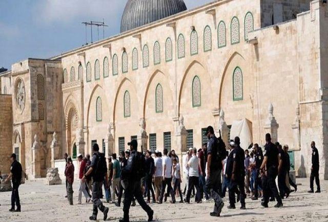 حمله شهرکنشینان صهیونیست به مسجدالاقصی
