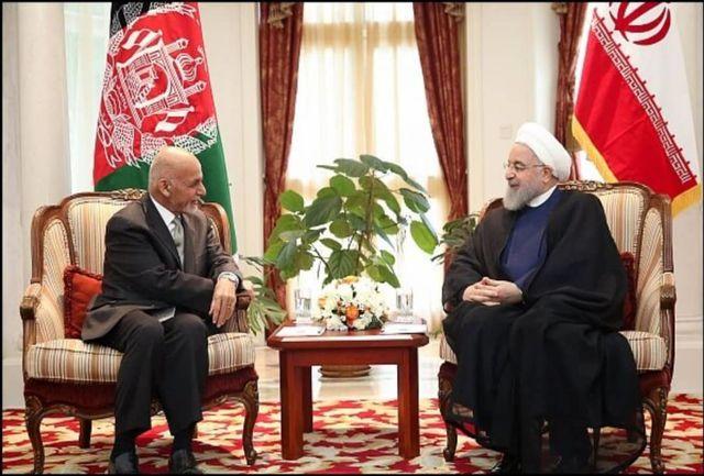 روسای جمهور ایران و افغانستان دیدار کردند